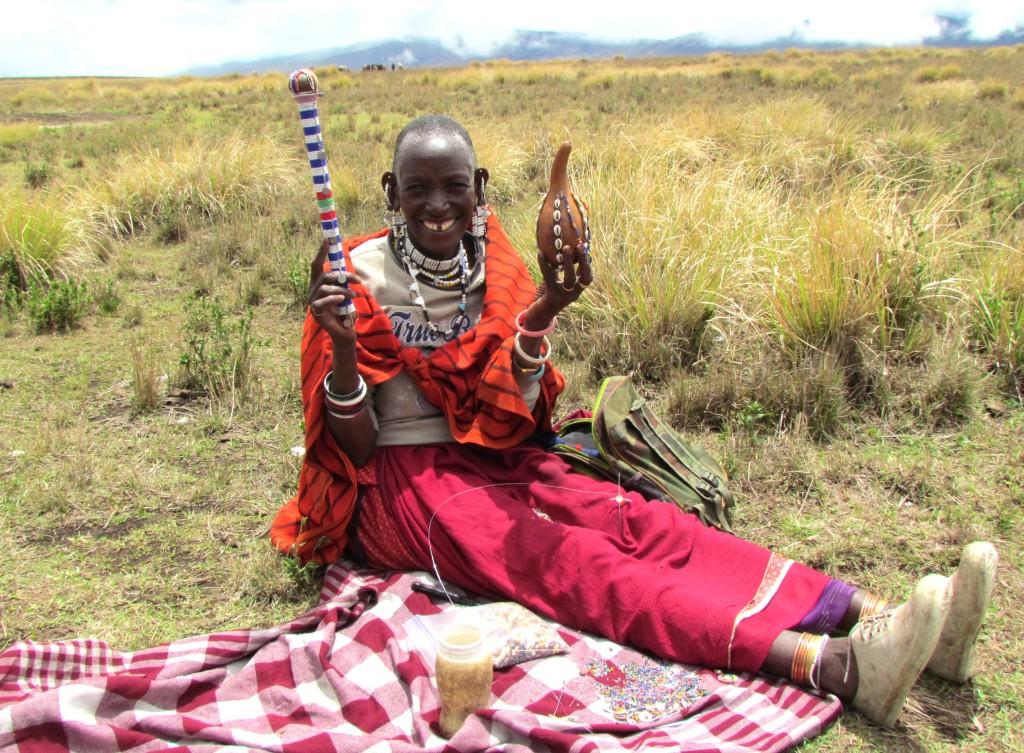 Sanago, Alailelai village bead artist in Tanzania